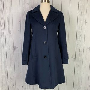 Theory   wool cashmere peacoat   navy
